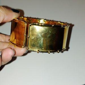 Gold tone cuff bracelet